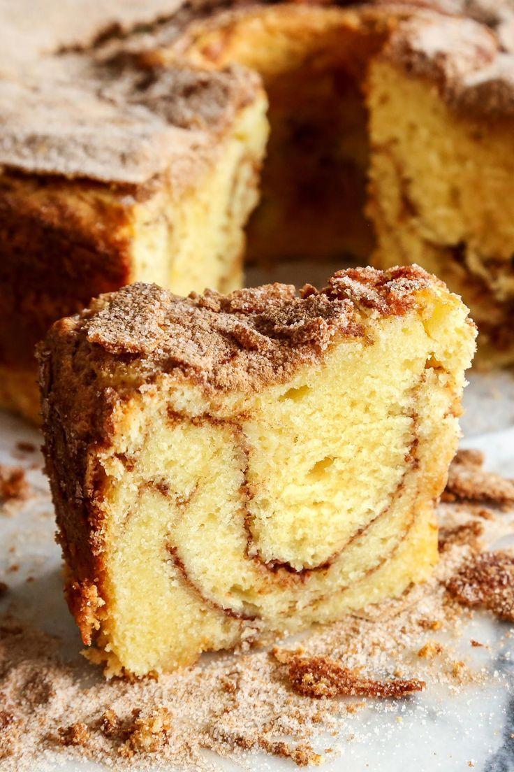 Sour Cream Coffee Cake With Cinnamon Ripple Recipe Sour Cream Coffee Cake Coffee Cake Recipes Coffee Cake