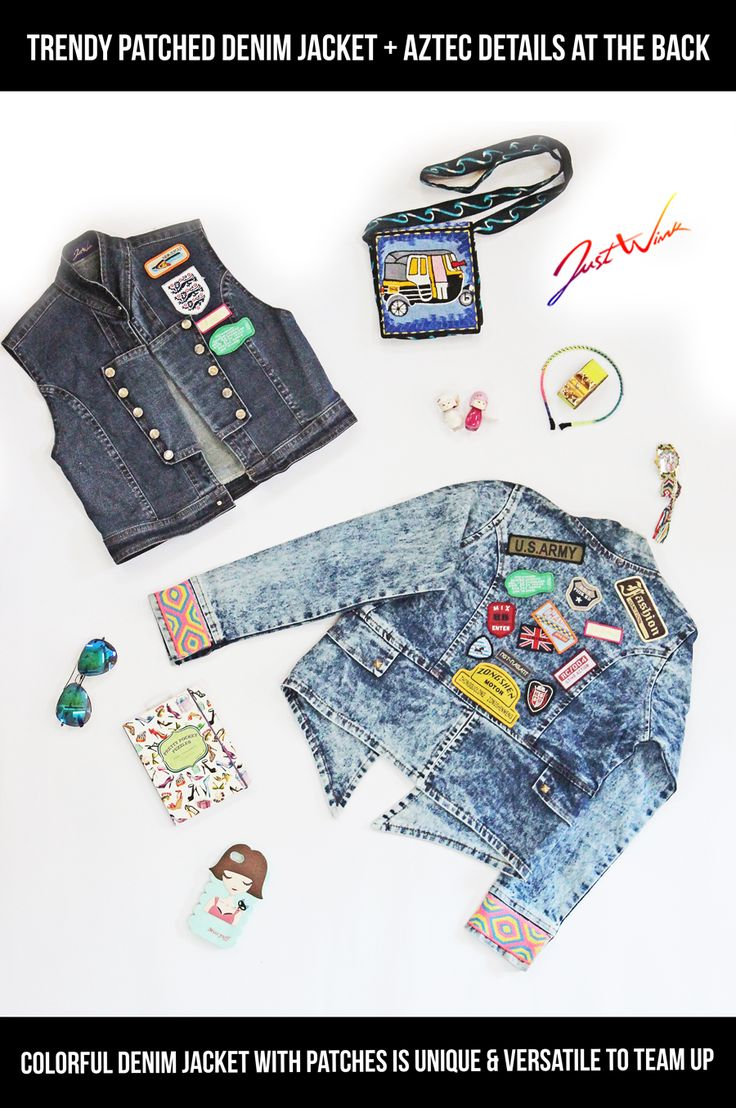 JW is going away from boring plain denim jackets to unique & colorful patched, painted, embellished JW Jackets ;) If you wish to view the back of the top Left Jacket and front of right bottom Jacket then click here : https://www.facebook.com/justwinker/photos/a.1156328747752779.1073741836.125825320803132/1156348471084140/?type=3&theater