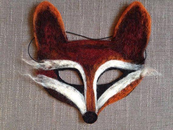 Masque renard en feutre
