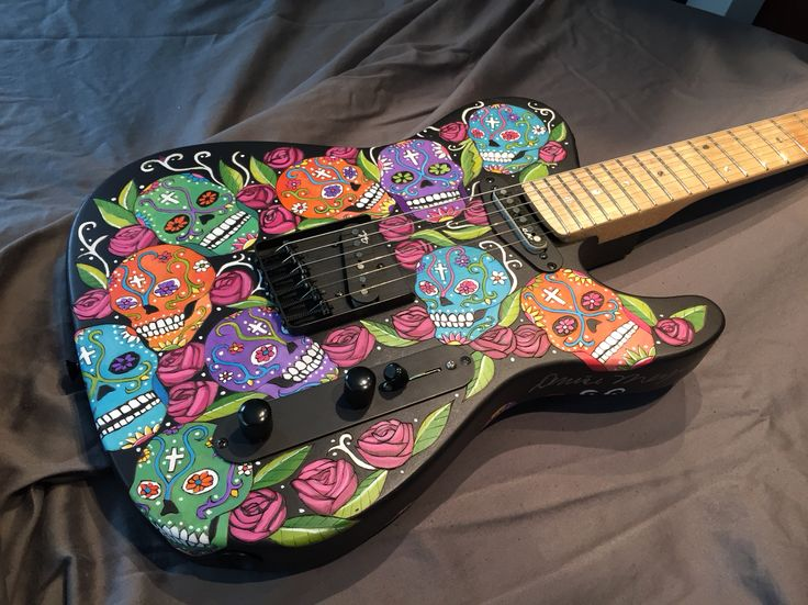 Nikita Day of the Dead by Denise Meyers hand wood burned and painted. Dylanpickups.com 2495.00