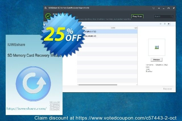 IUWEshare SD Memory Card Recovery Wizard Coupon 77% discount