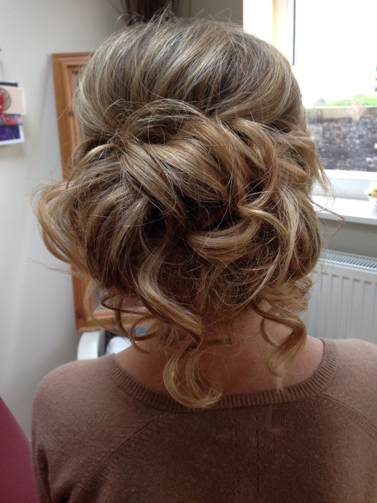 Blonde bridal/occasion updo