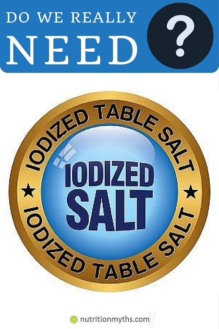 Iodized salt is required in some cases, such as belonging to the iodine deficiency risk group. Check some statistics and learn more: http://nutritionmyths.com/do-we-need-to-use-iodized-salt/