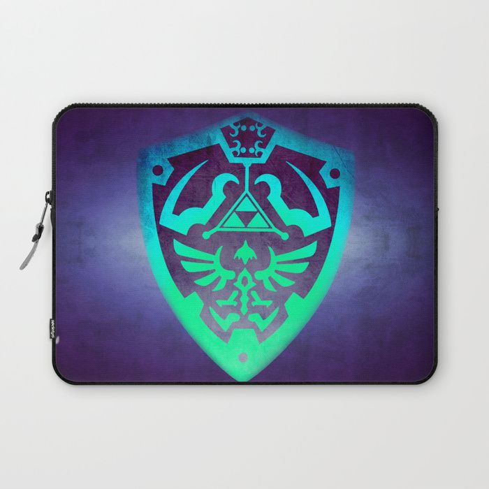 25% Off Everything With Code VDAY25 - Ends Tonight at Midnight PT. Buy Zelda Shield Laptop Sleeve by scardesign. #sales #sale #discount #dorm #campus #deals #39  #gifts #giftideas #online #shopping #valentinesday #valentinesdaygifts #badass #valentine #society6 #campus #tech #streetwear #style #home #laptopsleeve #laptopcase #cool #awesome #family #giftsforhim #giftsforher #kids #gaming #gamer #geek #nerd #zelda #retrogames #thelegendofzelda