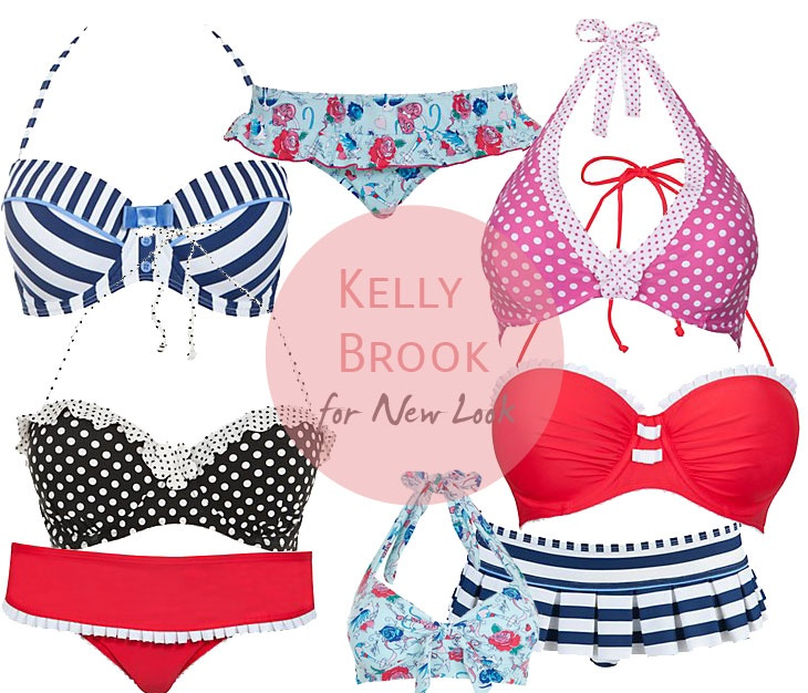Kelly Brook for New Look bikini collection