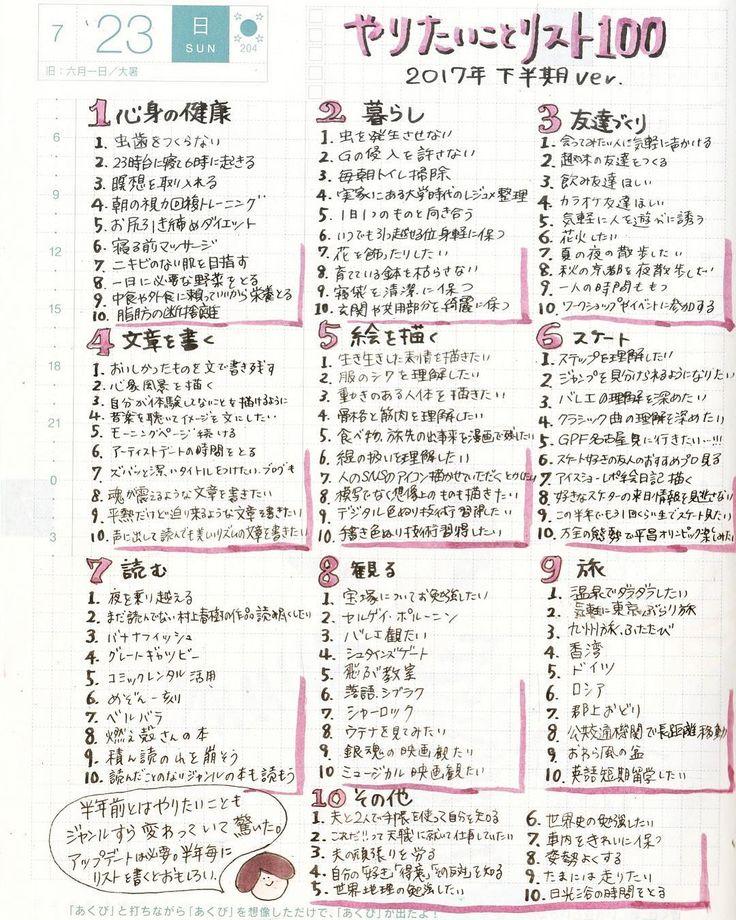 半年経って見返すと、やりたいことが変わっていた 今年の1月初めにやってみたい100のリストを書き出しました。 mount-hayashi.hatenablog.com 7ヶ月経った今見返してみると、やりたいと思っていることもジャンルすら変わっていて驚きました。 「あれ、なんでこれをやりたかったんだっけ?全く覚えてない」ということも結構あります。 半年に一度くらいアップデートした方がいいのかもしれない。 いま自分が何をしたいのか把握できるし、なんなら毎月でも、毎月が多すぎたら3ヶ月に一回でもいいからやってみるといいかもしれない。 instagram@ofumi_3 やりたいことリスト100、20…