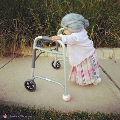 Little young old lady fancy dress - adorable! #fancydress #kids