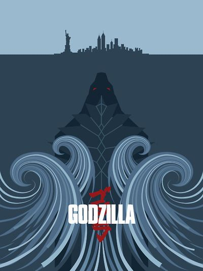 Godzilla  Loving this poster!  Props to the creator.