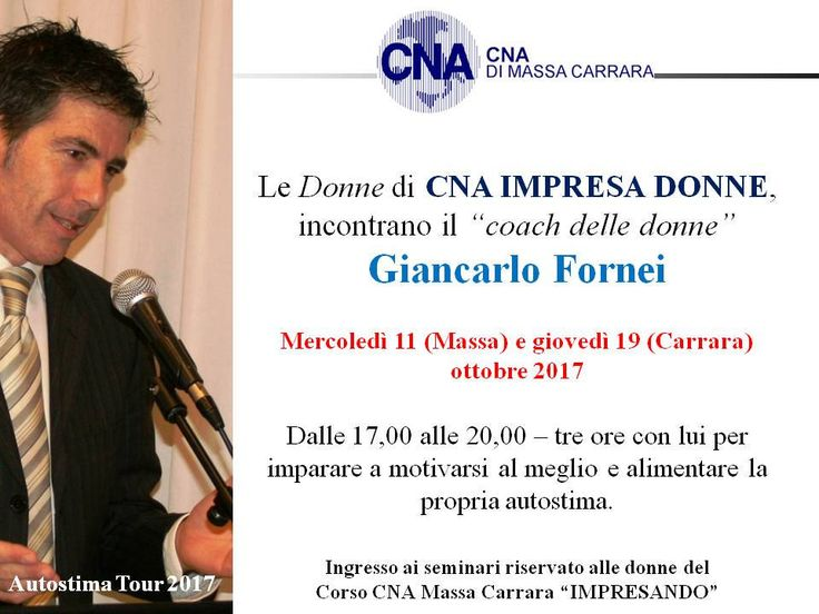 https://flic.kr/p/YNYwa3 | Massa Carrara - CNA MS - seminario autostima 11 e 19 ottobre  2017