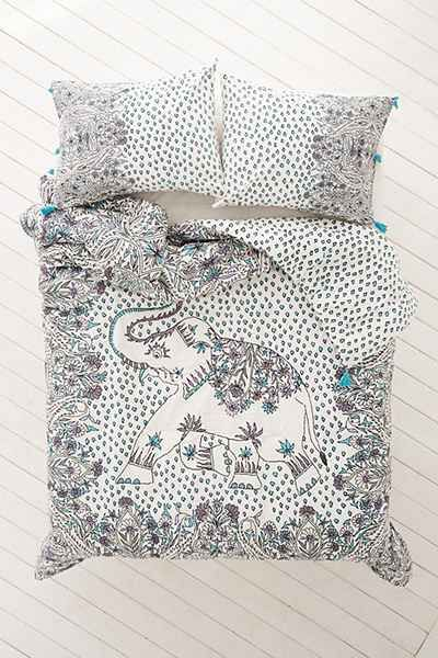 Magical Thinking Festive Elephant Comforter - Urban Outfitters