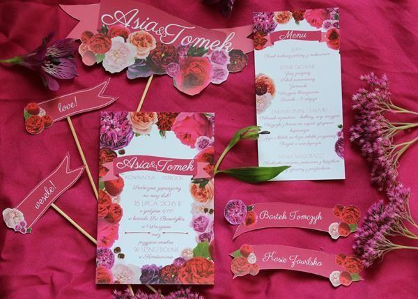 zaproszenie na ślub i wesele oraz dodatki