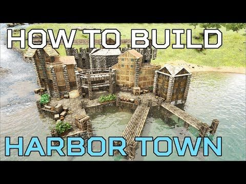 🦄Harbor Town HOW TO BUILD Ragnarok | Ark Survival [NO MODS