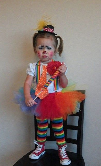 Cutest clown ever!  Toddler clown costume