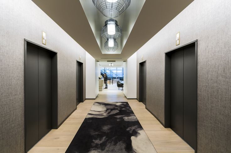 Location: Boston Consulting Group, U.S.A.  #SMOKE #carpet #design from Tom Dixon's Industrial Landscape carpet collection.