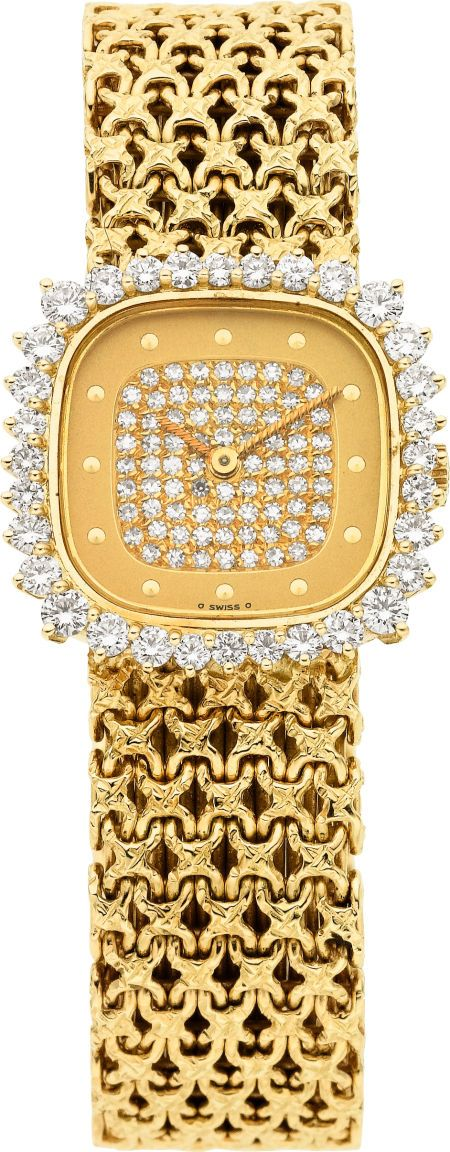 Patek Philippe Lady's Diamond, Gold Wristwatch
