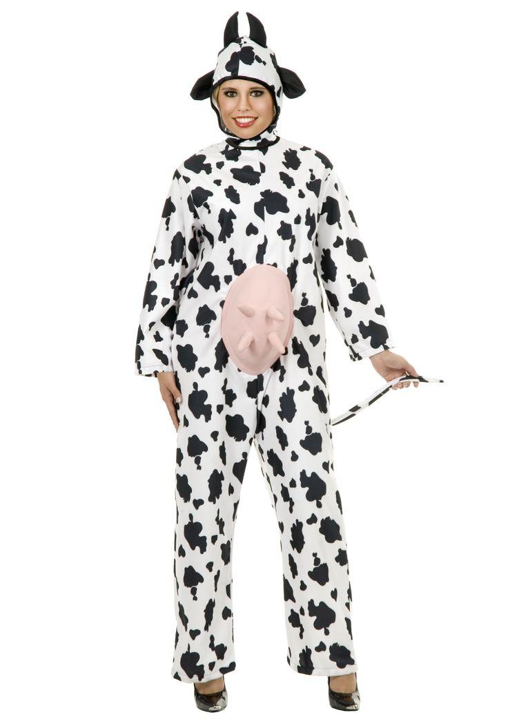 plus size cow costume farm animal halloween costumes - Baby Cow Costume Halloween