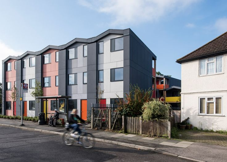 Richard Rogers' prefab housing for homeless people opens | Dezeen --- Designed for charity YMCA, this factory-building housing scheme by Rogers Stirk Harbour + Partners will provide accommodation for 36 homeless young people in Mitcham, south London