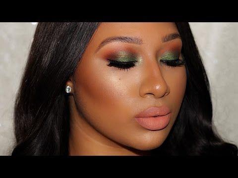 "Tutorial| Intense Greens feat. Juvia's ""The Nubian 2"" Palette - YouTube"