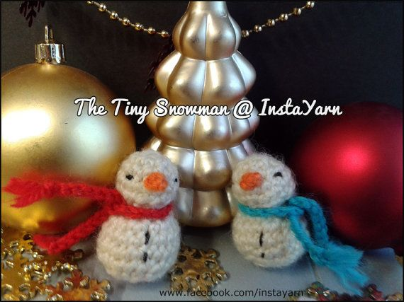 Pupazzi di neve pendenti perfetti per decorare ogni di InstaYarn