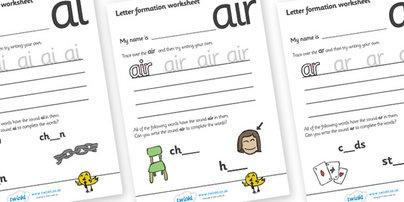 phonetic wksheets Letter Formation Worksheets (Phase 3