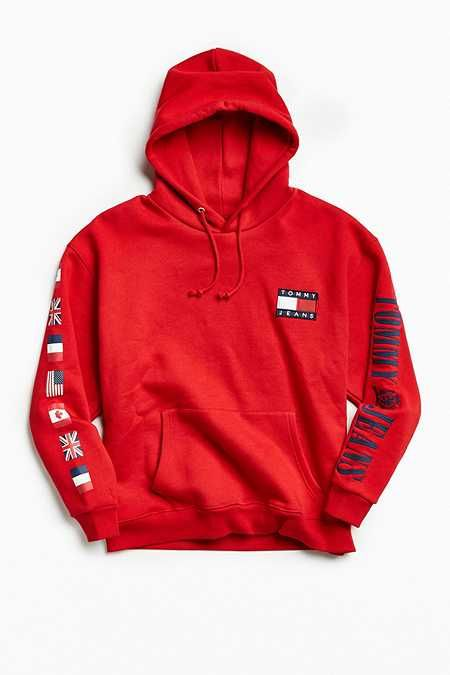 tommy hilfiger 90s hoodie sweatshirt 2018 winter style. Black Bedroom Furniture Sets. Home Design Ideas