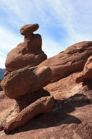 Rock formation at Garden of the Gods, Colorado Springs, CO; photo by floridawaxer