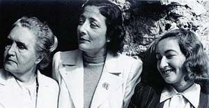 Alba de Céspedes con Sibilla Aleramo e Maria Luisa Astaldi nel 1939 (Archivio Fondazione Mondadori)