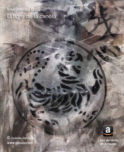 Tatuaje que lleva Kanela en la espalda. La protagonista del libro El tigre de la canela. Acción, aventura y fantasía.