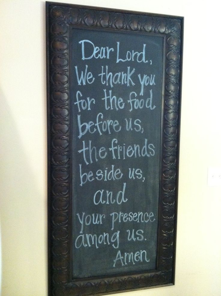 DIY Chalkboard Project + Meal Prayer
