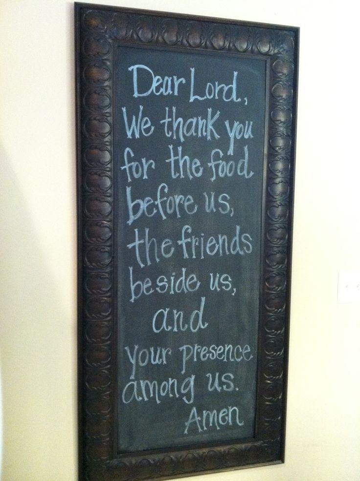 DIY Chalkboard Project + Meal Prayer