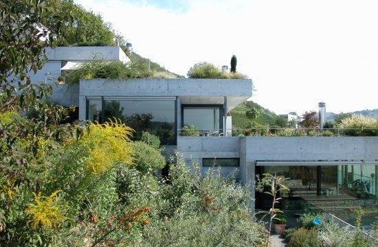 Projekte terrassenhaus ennetbaden endres architekten for Architekten bungalow modern