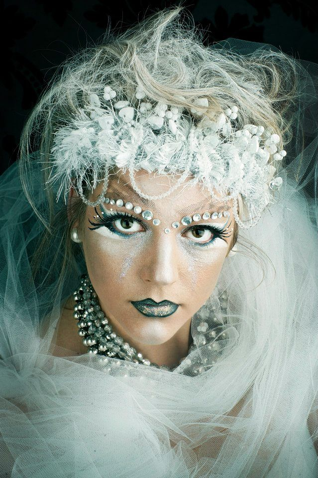 Ice Queen Make-up by Anita Johns. Photography by Elska Photography.