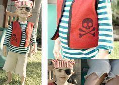 DIY pirate costume for kids