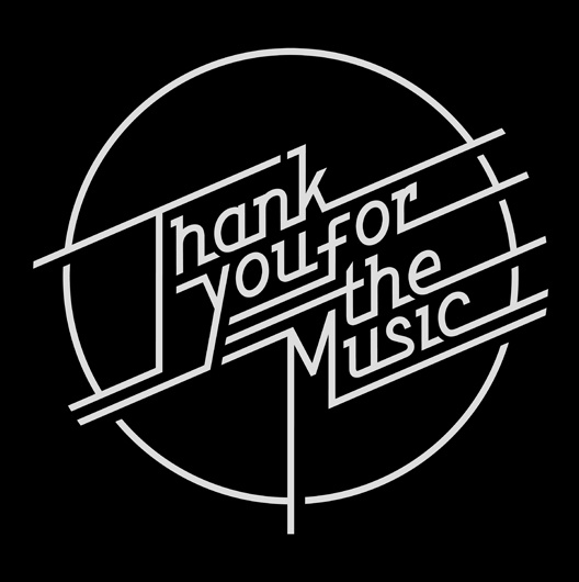 Thank You For The Music Exhibition Logo