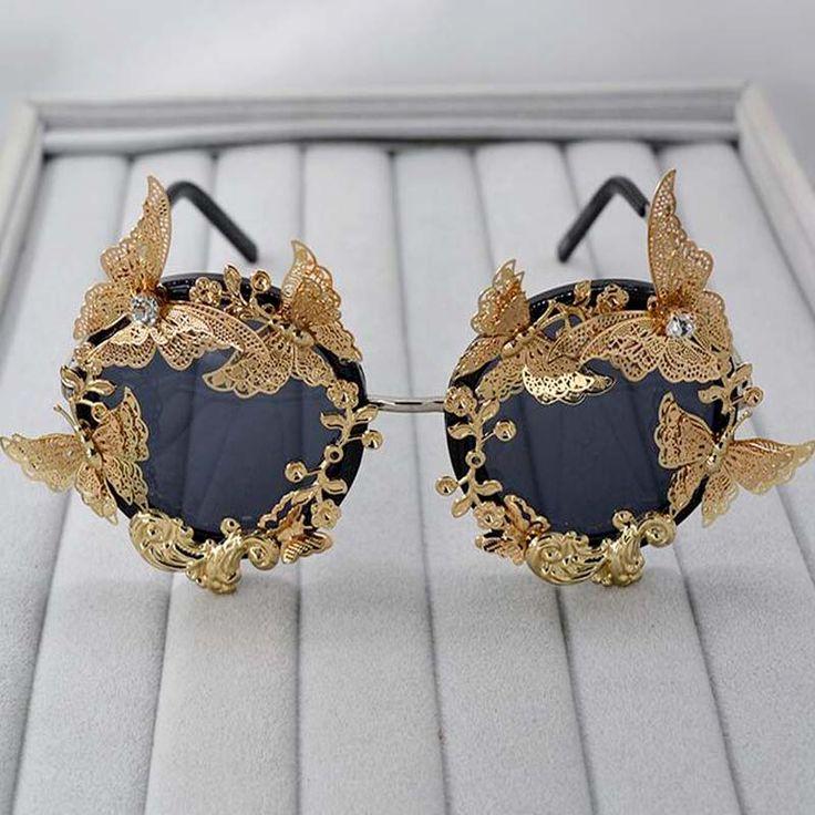 Súper Lujo Barroco Gafas de Sol Mujer Metal de La Flor accesorios Vintage Gafas de Diseño de Marca gafas de Sol Al Aire Libre Ocasional de moda en Gafas de sol de Ropa y Accesorios de las mujeres en AliExpress.com | Alibaba Group