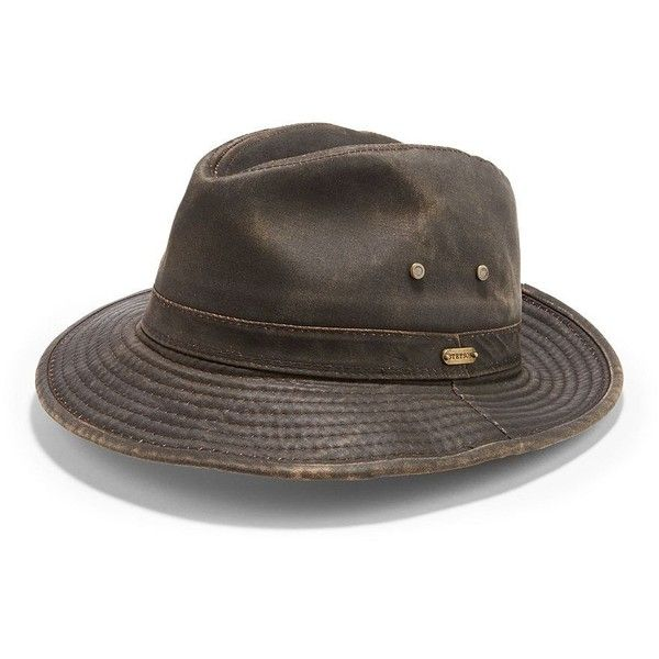 Stetson Safari Hat ($42) ❤ liked on Polyvore featuring men's fashion, men's accessories, men's hats and brown