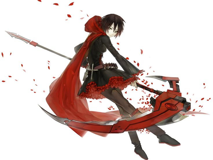 Epic isn't she? Ruby from Rooster Teeth's upcoming webseries, RWBY. (Pronounced Roo-Bee)