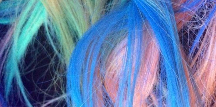 """Tendance : la vague """"rainbow hair"""""""
