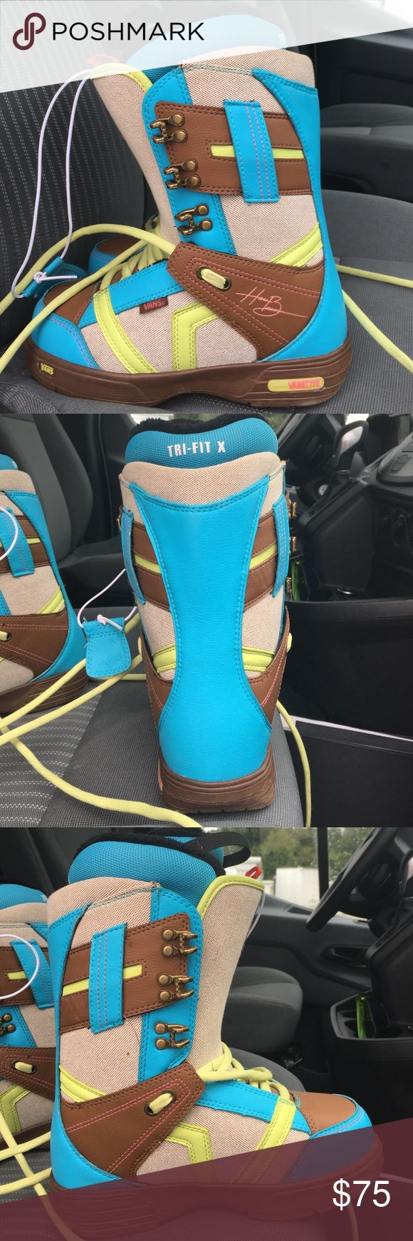 Vans Hi Standard Snowboard boots Brand new never worn women's snowboard boots. Very cute and comfortable! Vans Shoes