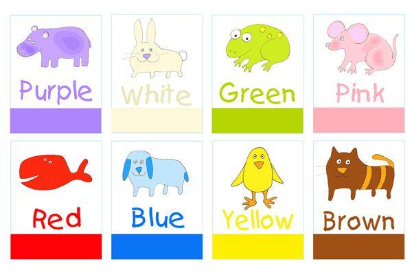 Engelse flashcards rondom Kleuren