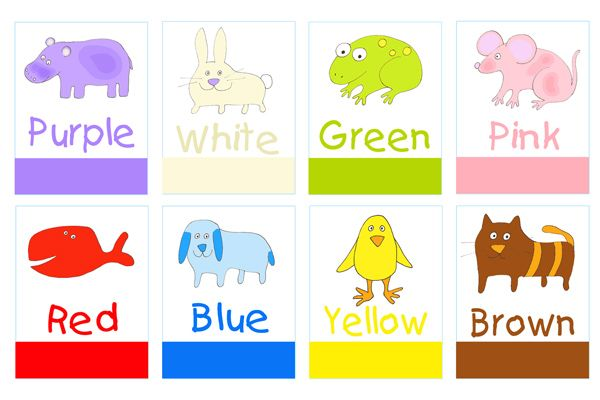 printable color poster for preschool printable preschool flashcards for learning colors and. Black Bedroom Furniture Sets. Home Design Ideas