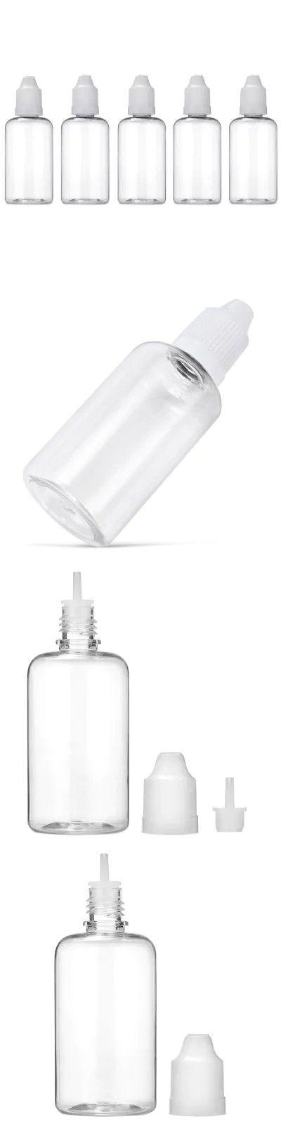 50ml PET Transparent E-liquid Bottle 5pcs -$1.58