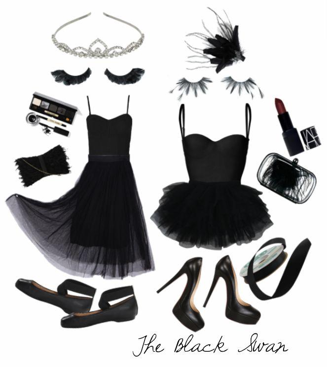 DIY Black Swan Halloween Costume  25 more easy DIY costumes at ColorMeCourtney.com   #halloween #costume