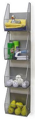"Vegetable storage?  Amazon.com: Wall Mount 4 Tier Vertical Basket Rack (Silver) (53.5""H x 8.25""D x 11.5""W): Home & Kitchen"