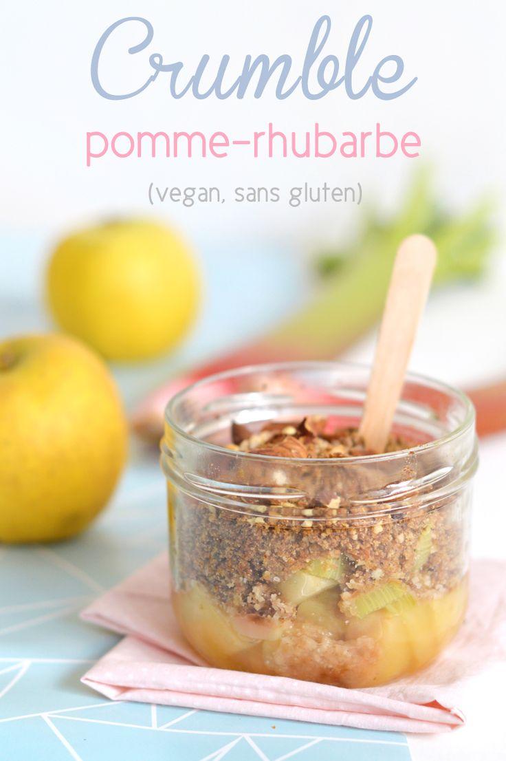 Recette crumble vegan et sans gluten : rhubarbe et pomme