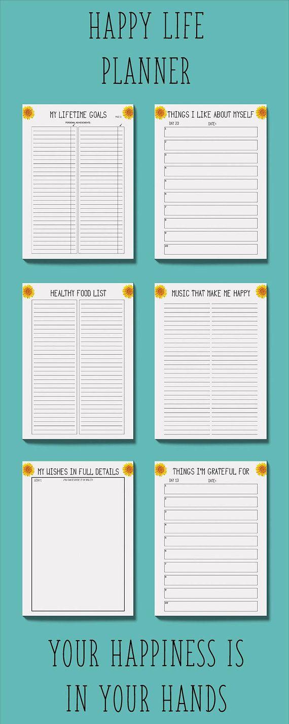 self care planner printable mental health journal gratitude
