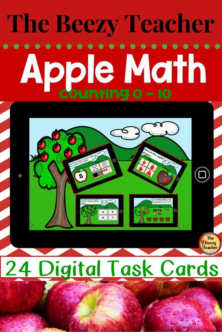 Apple Math 0 – 10 BOOM Cards Digital Task Cards