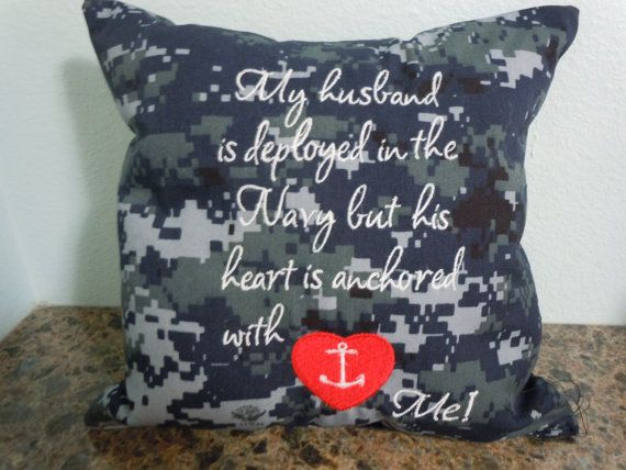 US Navy Navy Wife 10 x 10 Digital camo pillow by LynnsSewMuchMore, $11.00