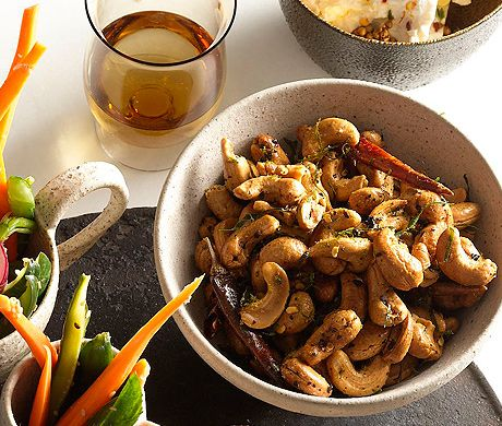 Chile-lime cashews -a great way to get some protein on game day.