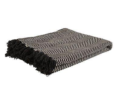 Pled Mayce II, grijs/zwart, 130 x 170 cm